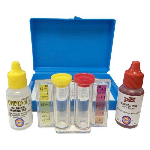 Kit de medición de pH y cloro Rainbow