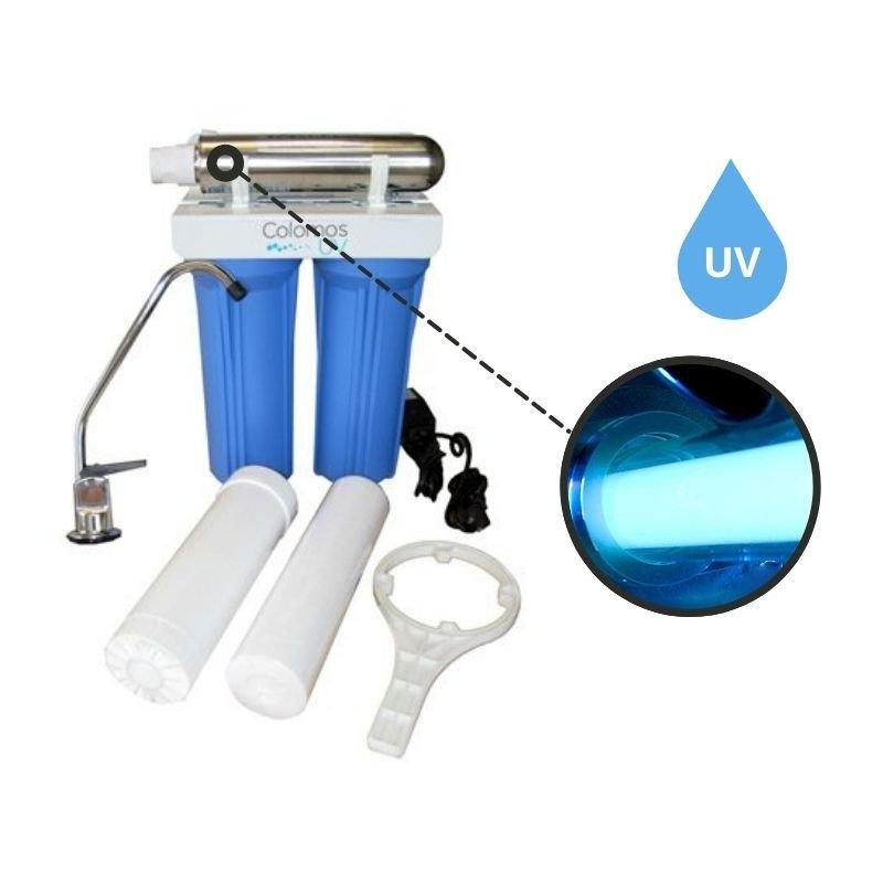 Purificador de agua con uv