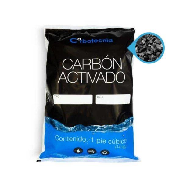 Carbón activado de coco y carbón activado mineral bituminoso12x40 y 8x80 saco de 1 ft3 1 pie cúbico