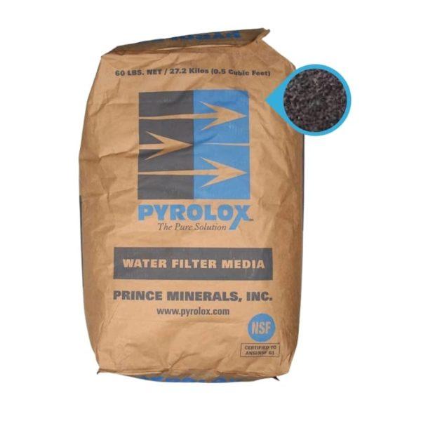 Pyrolox para eliminar fierro y manganeso delk agua